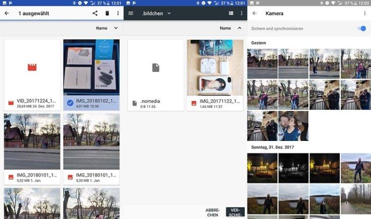 hide images from gallery de