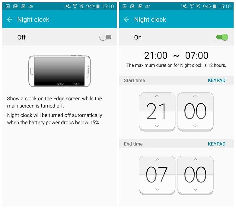androidpit samsung galaxy s6 edge ночные часы 5