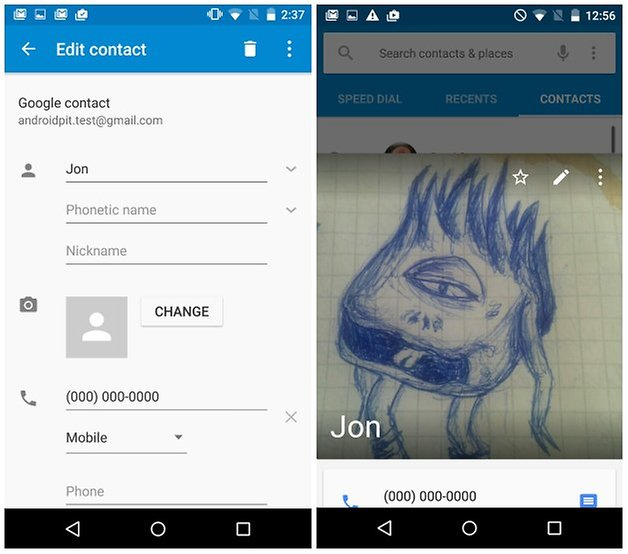 androidpit nexus 5 изменить изображение контакта