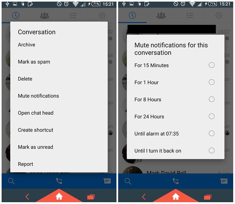 facebook messenger androidpit mute one