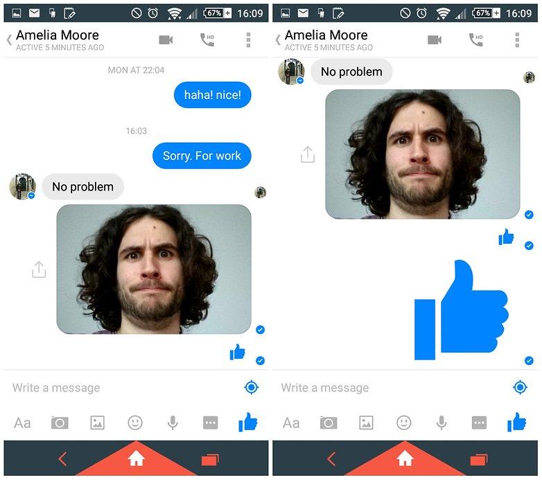androidpit facebook палец вверх совет