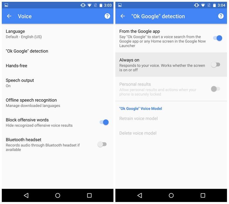 androidpit google теперь всегда слушает скриншот
