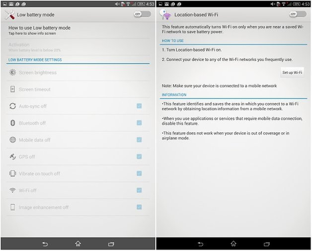 androidpit xperia z3 tablet compact управление питанием два