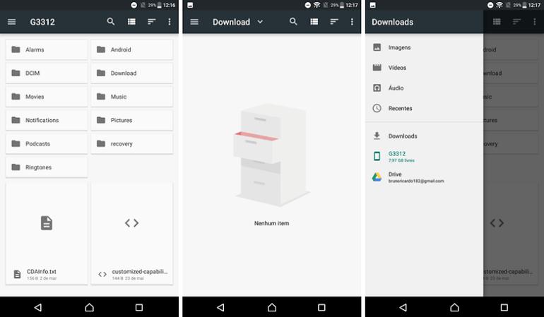 gerenciador nativo android tips