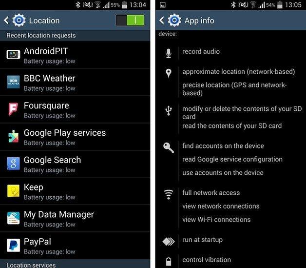 местоположение Android 2