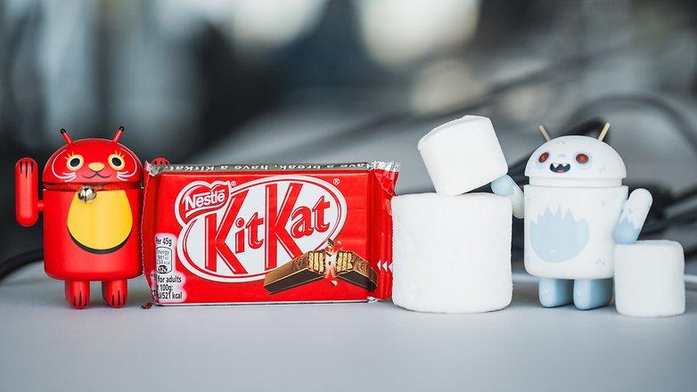 androidpit Kitkat против Marshmallow