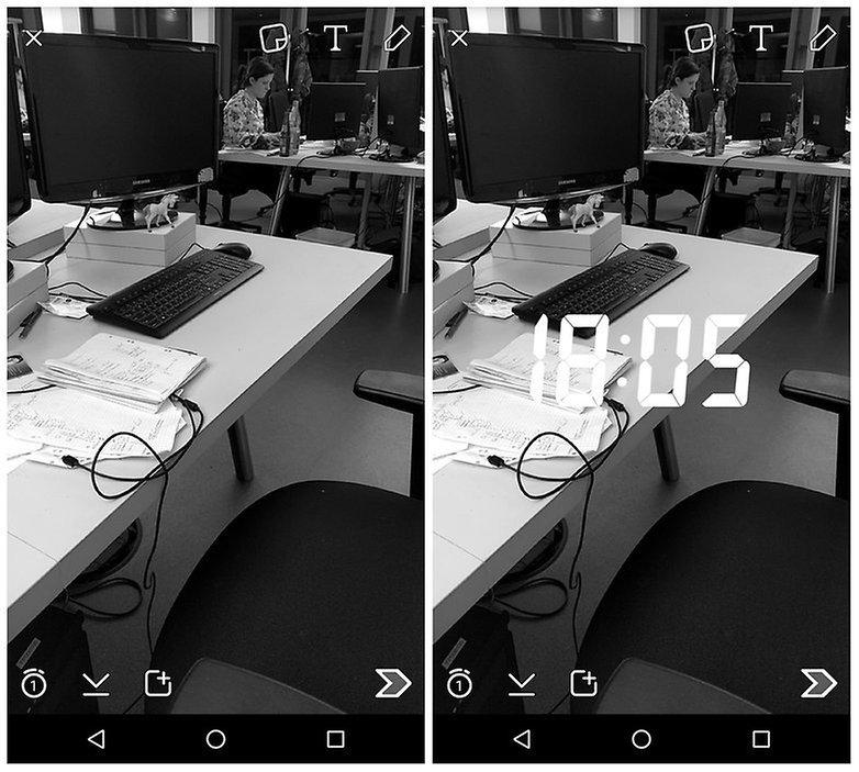 AndroidPIT Snapchat предлагает несколько фильтров w782