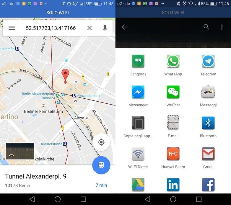GoogleMaps поделиться