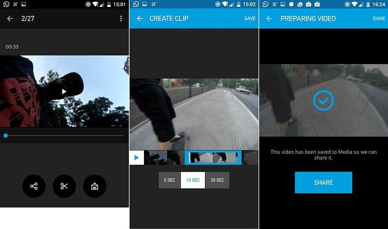 AndroidPit GoPro приложение смартфон поделиться