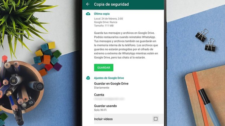AndroidPIT no incluir videos whatsapp