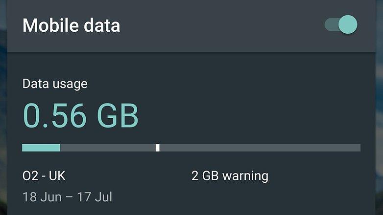 панель использования данных androidpit nexus 6
