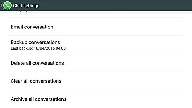 резервное копирование androidpit WhatsApp