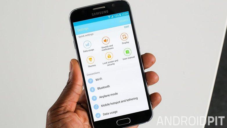 Быстрые настройки Samsung Galaxy S6