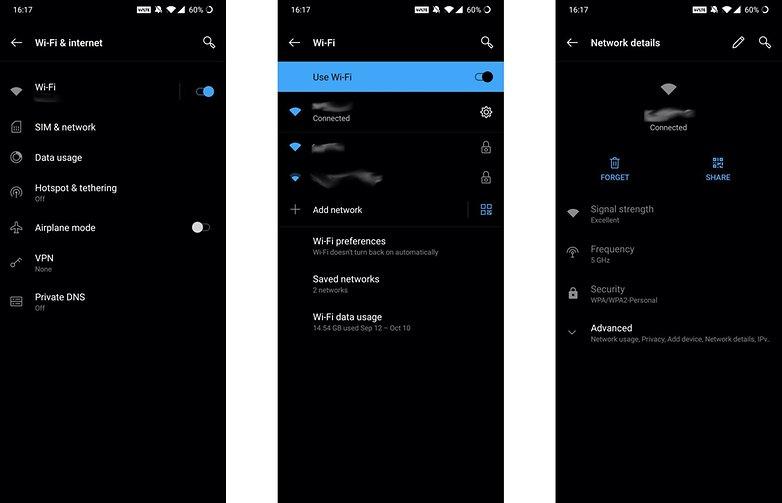 Совместное использование Wi-Fi OnePlus