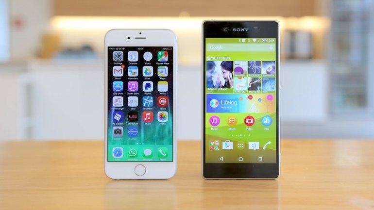 sony xperia z3 plus vs apple iphone 6 hero