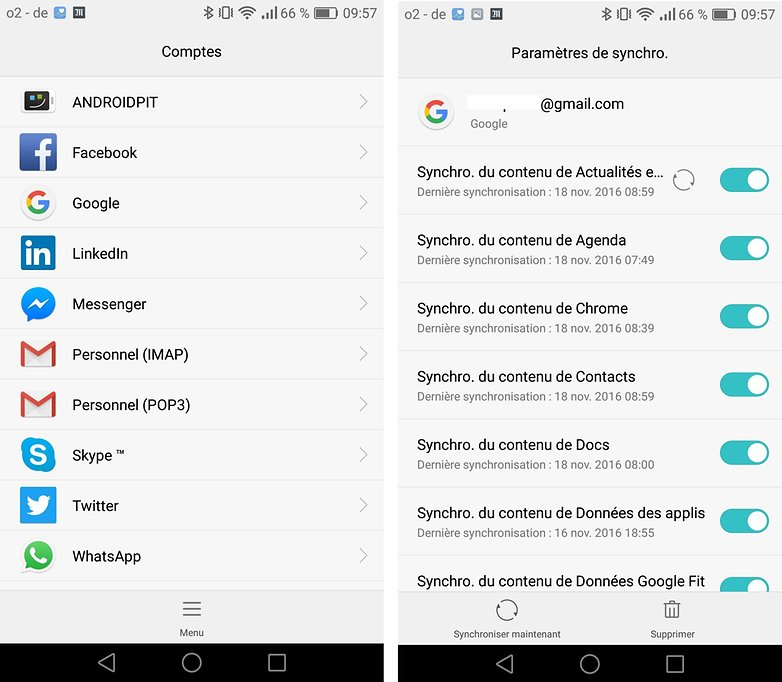 androidpit FR synchroniser comptes