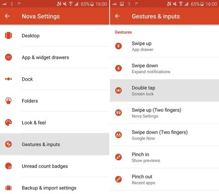 AndroidPIT nova launcher tips and tricks double tap to lock