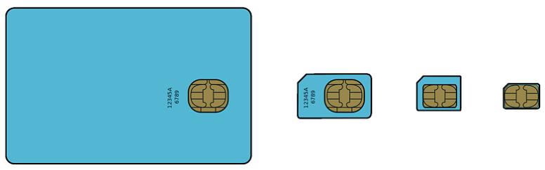 different sim cards