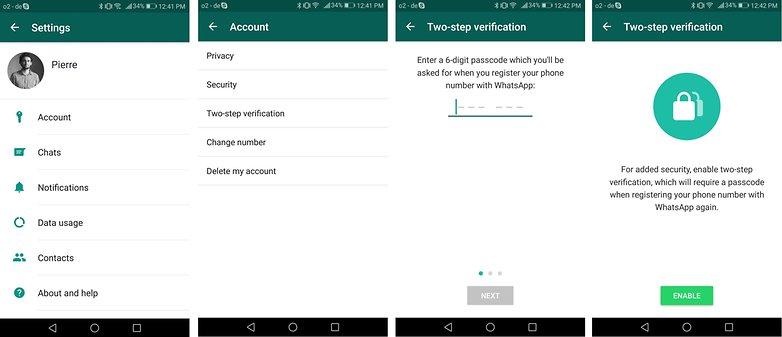 WhatsApp двухэтапная проверка EN COM