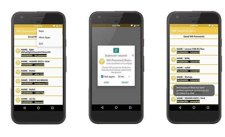 приложение для показа пароля Wi-Fi