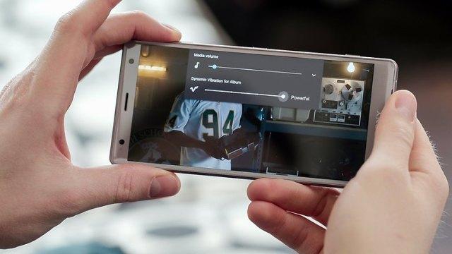 AndroidPIT sony xperia xz2 Dynamik vibration edit hv4