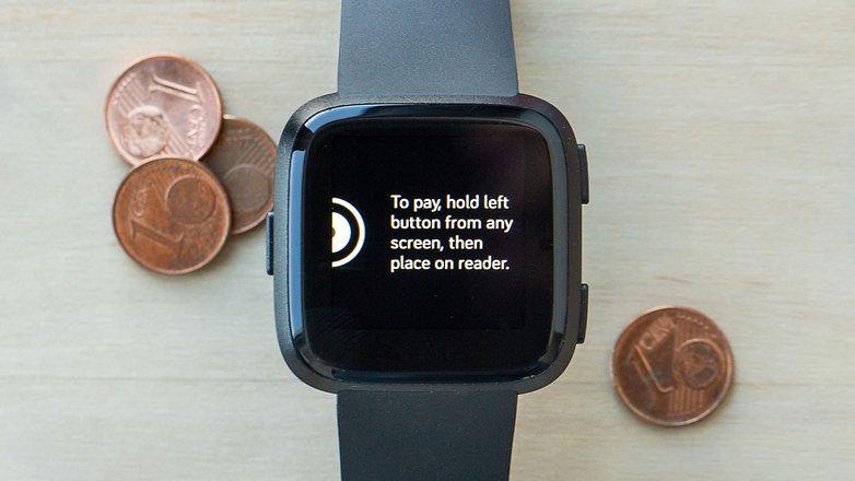 AndroidPIT fitbit versa мобильный платеж