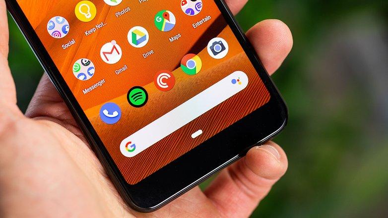 AndroidPIT Google Pixel 3a подбородок