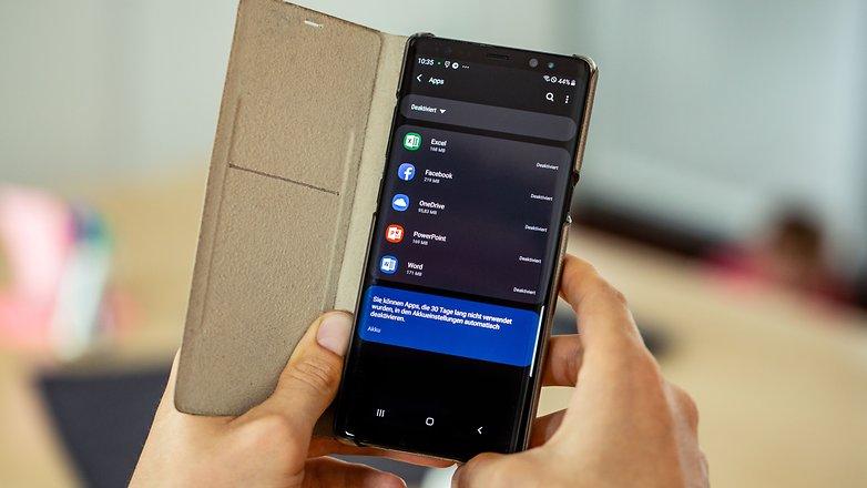 AndroidPIT samsung galaxy note8 1 год деактивировать приложения