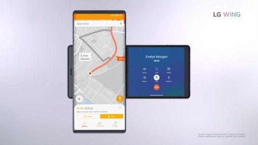 LG WING Navigation Call