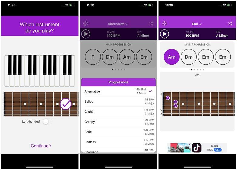 приложение autochords ии написание песен