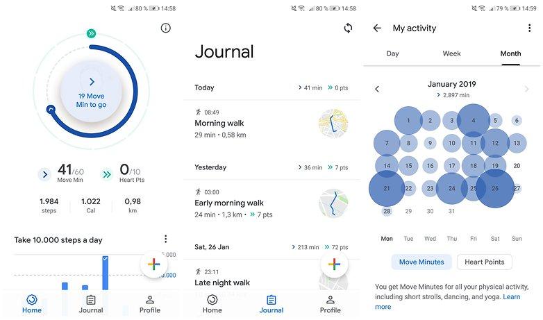 шаги приложения google fit