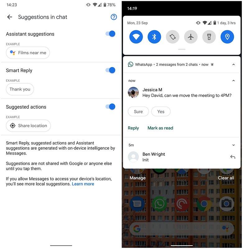 умный ответ android 10