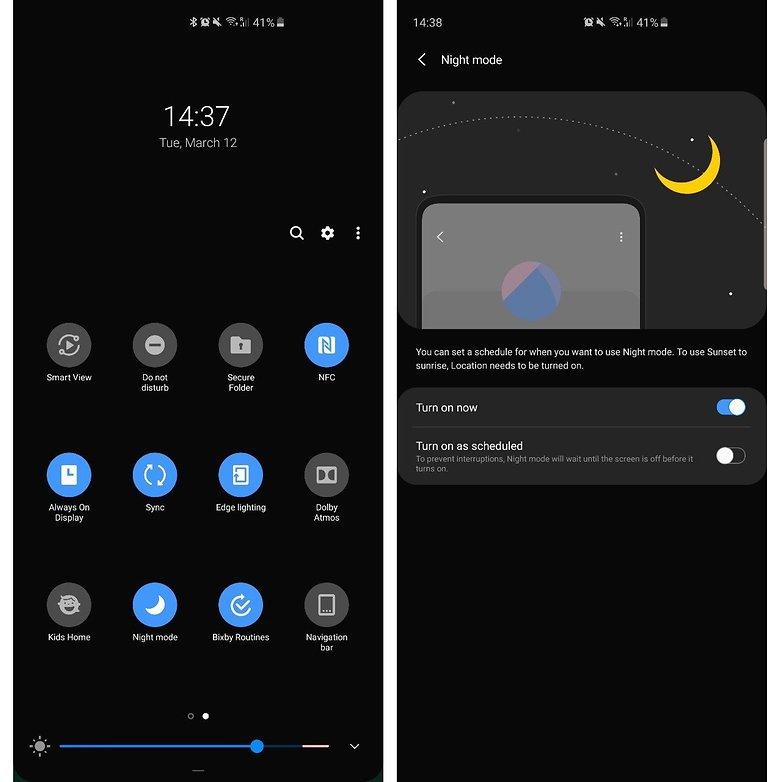 один пользовательский интерфейс темного режима