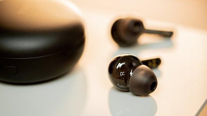 NextPit LG Tone Free headphones close up
