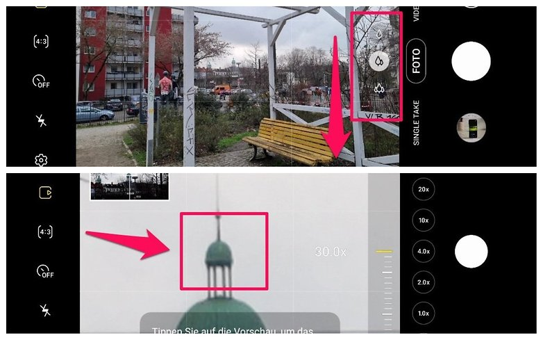 Блокировка зума Samsung Galaxy S21