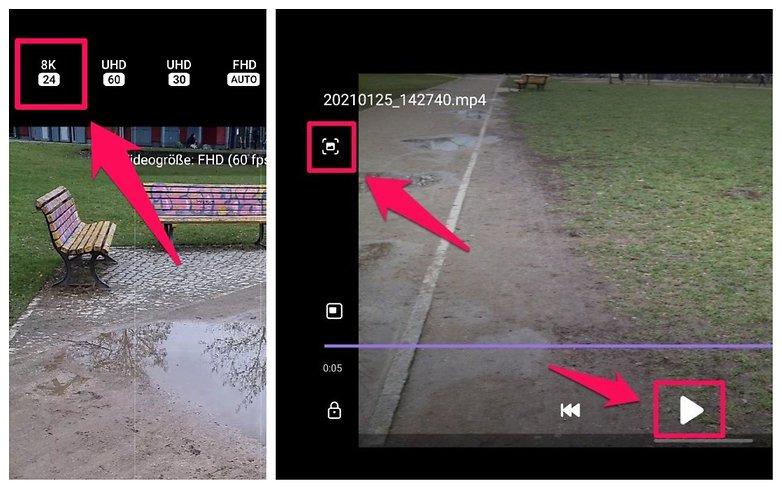 Samsung Galaxy S 21 8K Video Snap