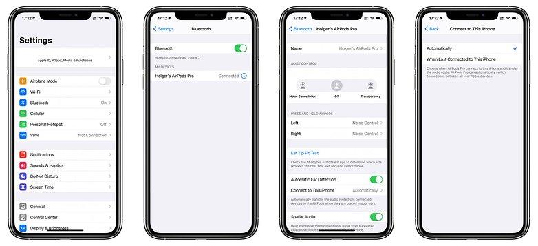 iOS 14 AirPods с автоматическим подключением к США