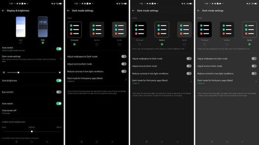 Dark Mode on ColorOS 11