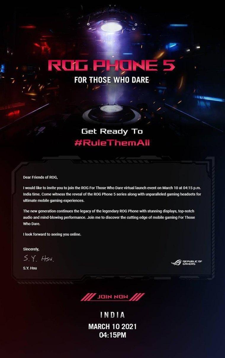 ROG Phone launch invite