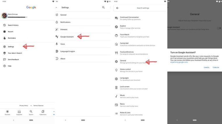 Turn On Google Assistant
