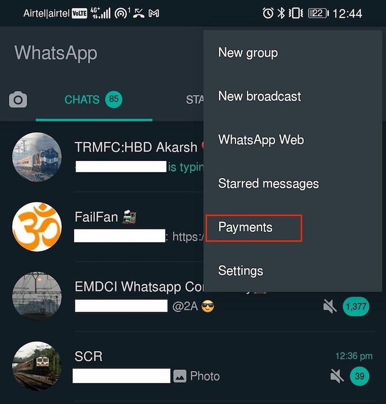 Вариант оплаты WhatsApp