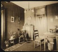 Sitting room in student suite of Miller Hall, 1901