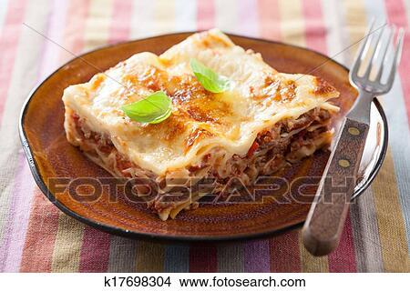 Lasagna bolognese Picture | k17698304 | Fotosearch