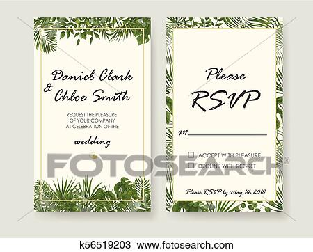 Wedding Invitation Rsvp Modern Card