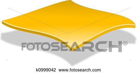 Clip Art of Cheese Slice k0999042 - Search Clipart ... (450 x 240 Pixel)
