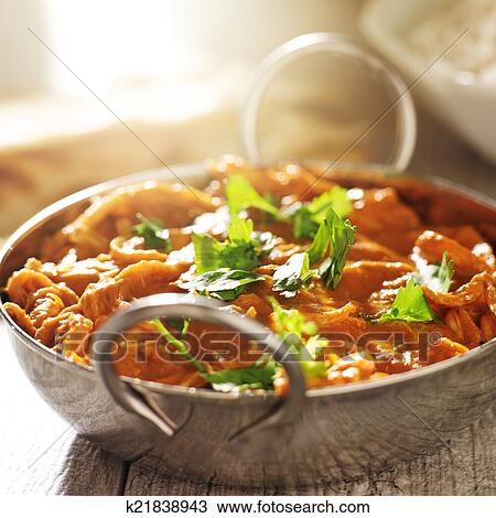 Indian curry - chicken tikka masala in balti dish Stock Image | k21838943 | Fotosearch