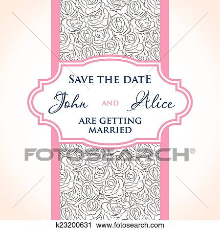 Wedding Invitation Card Design With Multicolored Drops