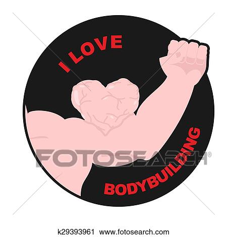 Download I love bodybuilding. Muscle biceps sweetheart. Hand ...