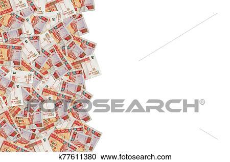 Che Guevara monument on cuban banknote of orange three pesos convertibles 2016 Stock Image   k77611380   Fotosearch