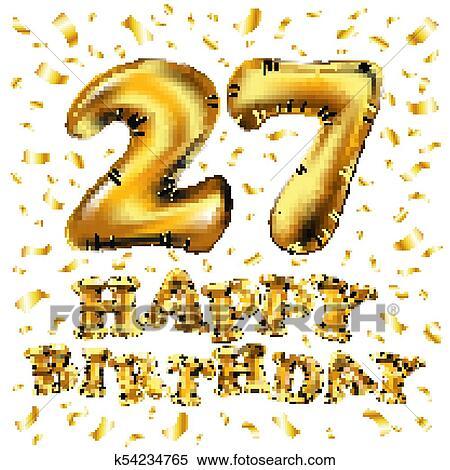 34 Teiliges Geburtstagsdeko Set Mit Luftballons Happy Birthday